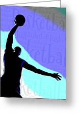 Basketball Poster Greeting Card