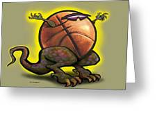 Basketball Saurus Rex Greeting Card