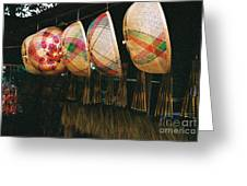 Baskets And Brooms Greeting Card