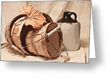 Baskets With Crock I Greeting Card by Tom Mc Nemar