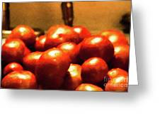 Basket Of Tomatoes M1 3309t2 - Photo Art Greeting Card