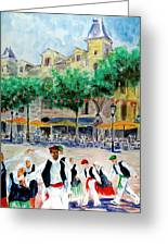 Basque Country Dancing Greeting Card
