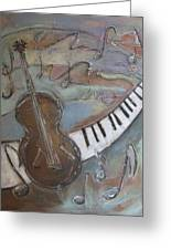 Bass And  Keys Greeting Card