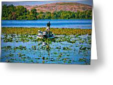 Bass Fishing Greeting Card