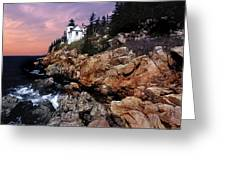 Bass Harbor Head Lighthouse In Maine Greeting Card