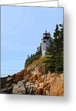 Bass Harbor Light House Greeting Card