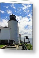 Bass Harbor Light Greeting Card