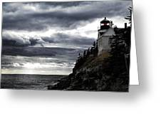 Bass Harbor Lighthouse In Acadia Np Greeting Card