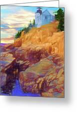Bass Harbor Lighthouse,acadia Nat. Park Maine. Greeting Card