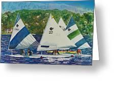 Bass Lake Races  Greeting Card
