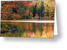 Pond In Autumn Greeting Card