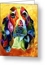 Basset Hound Blues Greeting Card