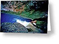 Bassin Blue - Jacmel Haiti Greeting Card