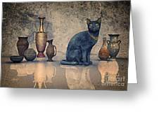 Bastet And Pottery Greeting Card