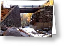 Bastion Falls Bridge 2 Greeting Card