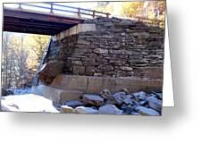 Bastion Falls Bridge 3 Greeting Card