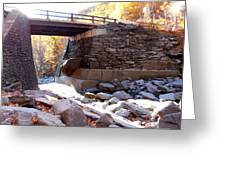 Bastion Falls Bridge 4 Greeting Card