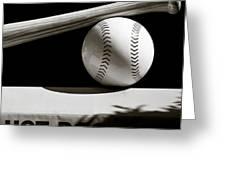 Bat And Ball Greeting Card