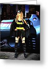 Bat Gal In The City Greeting Card