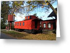 Batavia Depot Caboose Greeting Card