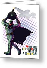 Batfleck And The Bomb 2 Greeting Card