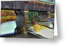 Bath Covered Bridge In Autumn Greeting Card