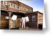 Bath House In Old Tucson Greeting Card