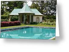 Chanticleer Bath House A Greeting Card