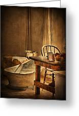 Bath Night At Fort Verde Greeting Card