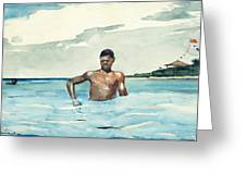 Bather Greeting Card