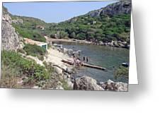 Bathers At Cales Coves Greeting Card