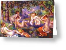 Bathers In The Forest Greeting Card
