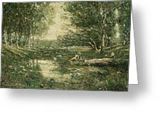 Bathers. Woodland Greeting Card