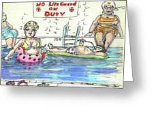Bathing Beauties/ Poolside Greeting Card