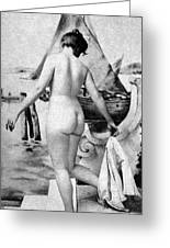 Bathing Nude, 1902 Greeting Card