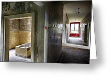 Bathroom In Deserted Building Greeting Card
