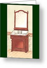 Bathroom Picture Wash Stand One Greeting Card