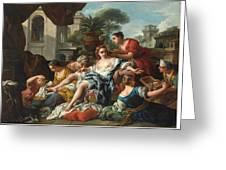 Bathsheba At Her Bath Greeting Card