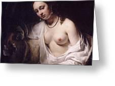 Bathsheba With David's Letter Greeting Card