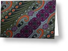 Batik Art Pattern Greeting Card