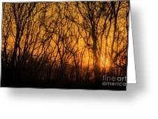 Batik Sunset Greeting Card