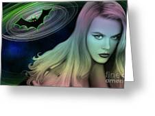 Batman And Nicole #0070 Greeting Card