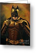 Batman The Dark Knight  Greeting Card by Paul Meijering