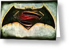 Batman Vs Superman Greeting Card
