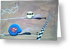 Batman Vs Superman Snail Greeting Card