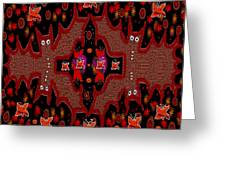 Bats In The Dark Greeting Card