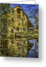 Batsto Gristmill Reflection Greeting Card