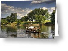 Batteau On The James River Greeting Card
