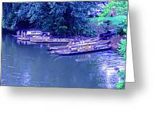 Batteaux At Cartersville Landing 1095t Greeting Card