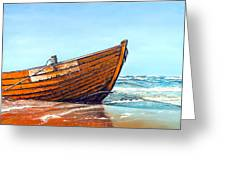 Battered By The Sea Greeting Card